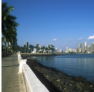 View of Panama City's skyline from the water