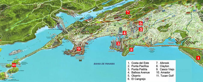Map of Panama City